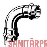 Sanpress Inox G-Bogen 90°, mit SC-Contur 22 Viega 485801 (485801)