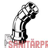 Sanpress Inox G-Bogen 45°, m. SC-Contur, 22 Viega 486143 (486143)