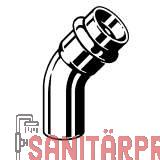 Sanpress Inox G-Bogen 45°, m. SC-Contur, 22 Viega 486211 (486211)