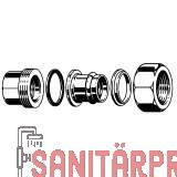 Sanpress-Isolierverschraubung, mit SC, 22x3/4 Viega 469498 (469498)